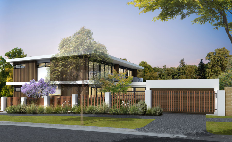 Lee fretten design specialising in new homes bespoke for Dual occupancy home designs corner block